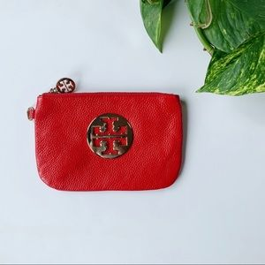 Tory Burch | Red Leather Wristlet OS